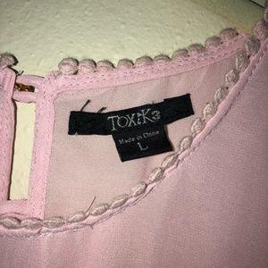 Toxik3 Tops - Toxik3 Pink Lacey Tank Top | Large